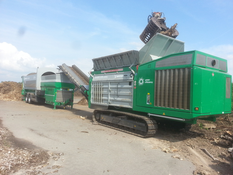 Shredder Komptech Crambo Direct groen